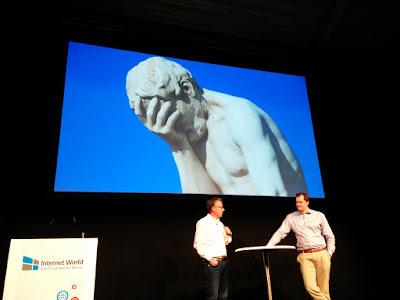 Matthias Schrader und Jürgen Graf auf der Internet World 2016.