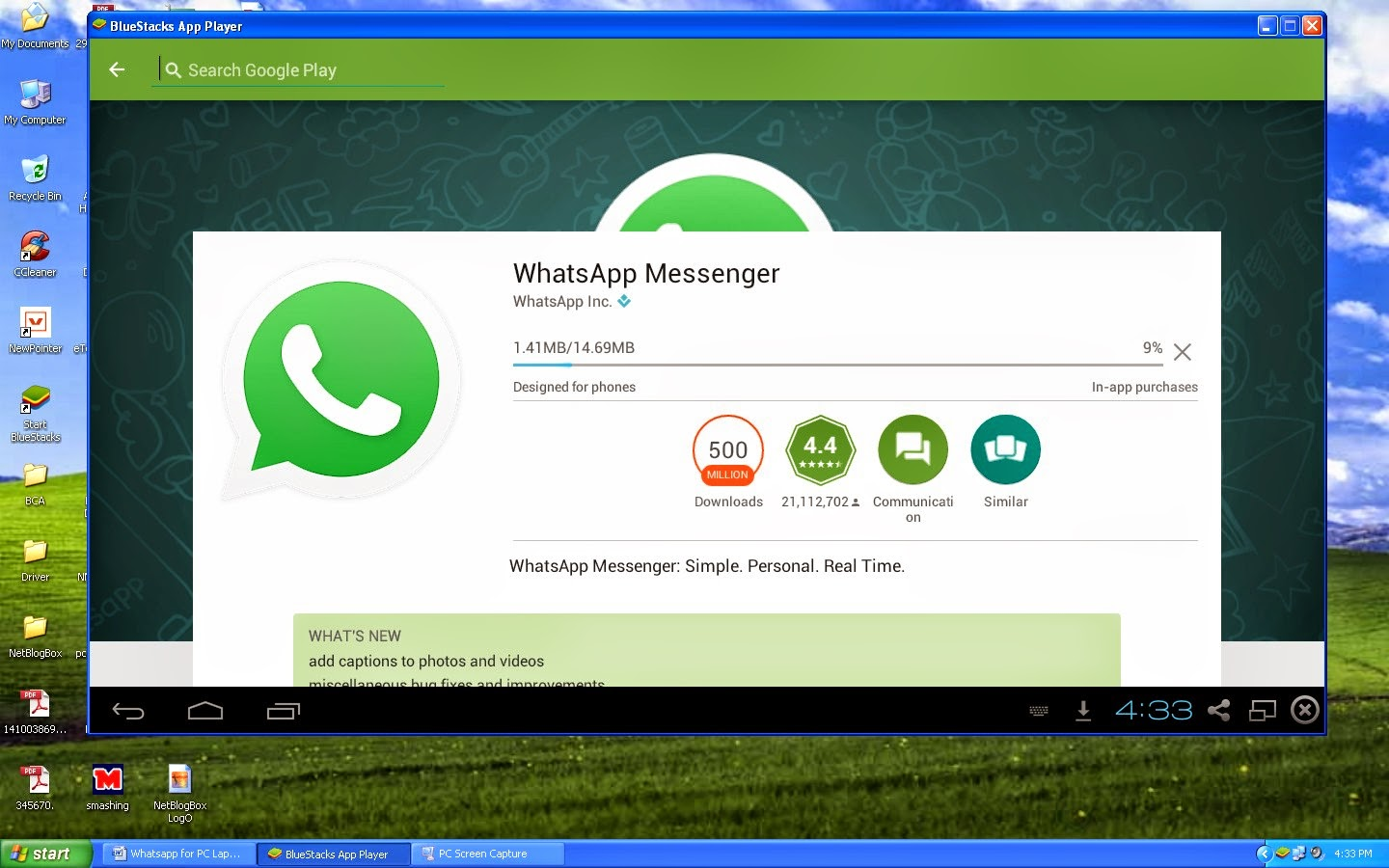 whatsapp messenger pc download free