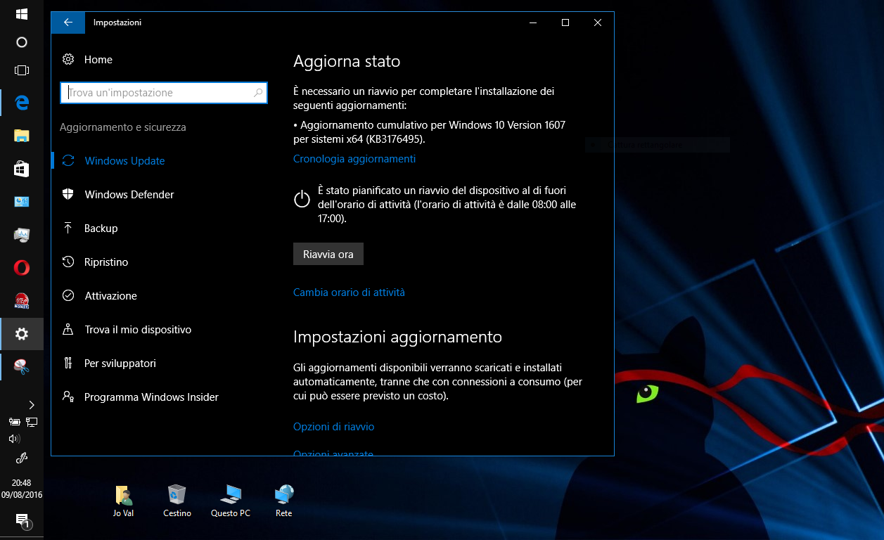 Aggiornamento cumulativo di Agosto per Windows 10 disponibile HTNovo