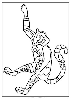 monkey arts of niki de saint phalle printable adults coloring pages