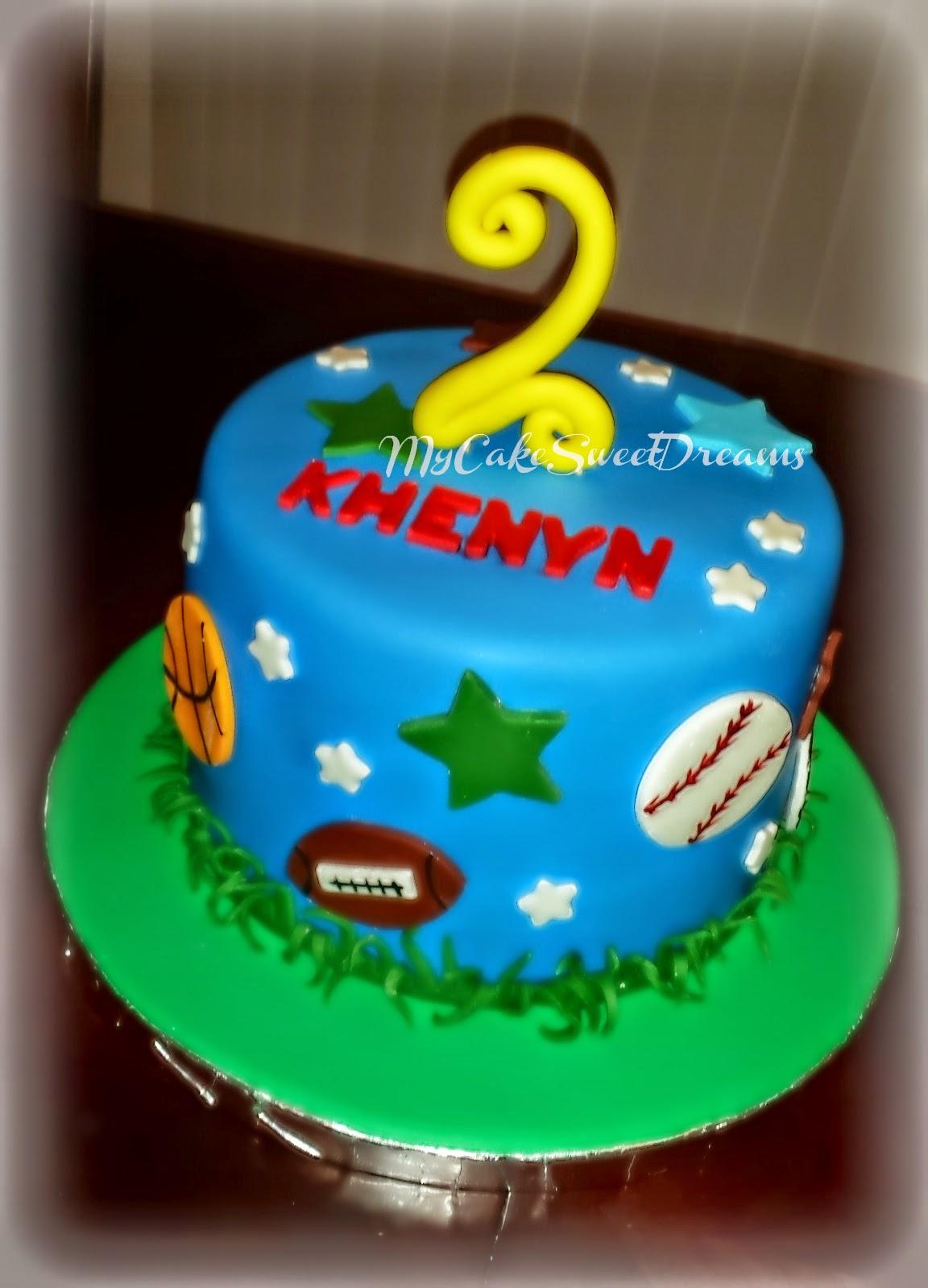 Mycakesweetdreams All Sports Birthday Cake Amp Cupcakes