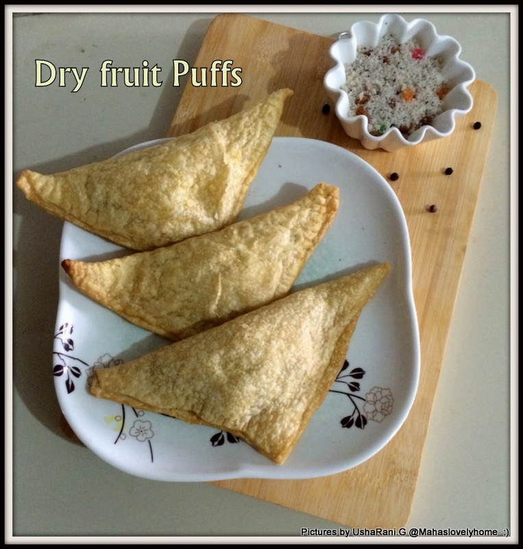 Puffs with Coconut Filling | Dry fruits puff pastry | Tea time Snacks ...
