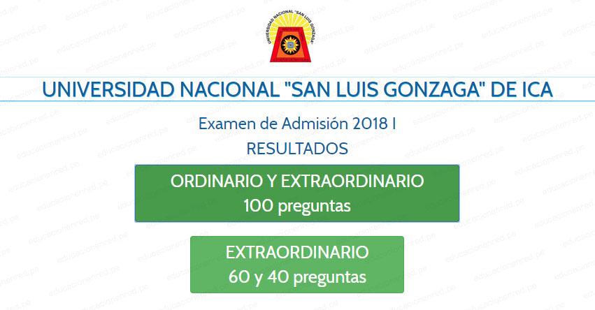 UNICA Publicó Resultados Examen Admisión 2018-1 (Domingo 22 Julio) Ingresantes por Carrera Profesional - Universidad Nacional San Luis Gonzaga de Ica - www.unica.edu.pe