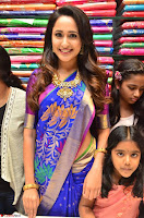 Pragya Jaiswal in colorful Saree looks stunning at inauguration of South India Shopping Mall at Madinaguda ~  Exclusive Celebrities Galleries 010.jpg