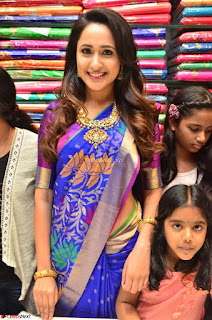 Pragya Jaiswal in colorful Saree looks stunning at inauguration of South India Shopping Mall at Madinaguda ~ Exclusive Celebrities Galleries 010