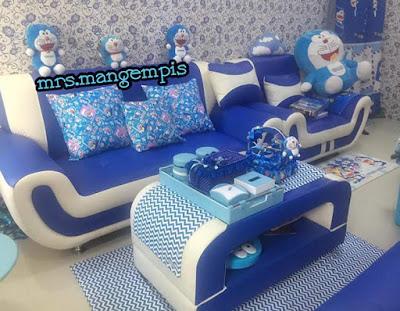 Gambar Ruang Tamu Doraemon Nuansa Biru