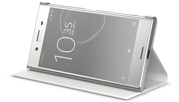 スタイルカバースタンド SCSG10は、ソニー純正のXPERIA XZ Premium専用カバー