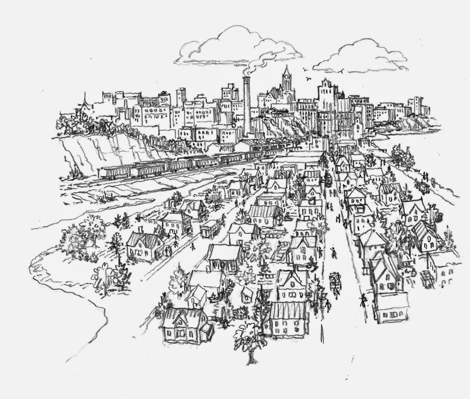 Urban Sketchers Twin Cities Sketches Of Flooding In Saint
