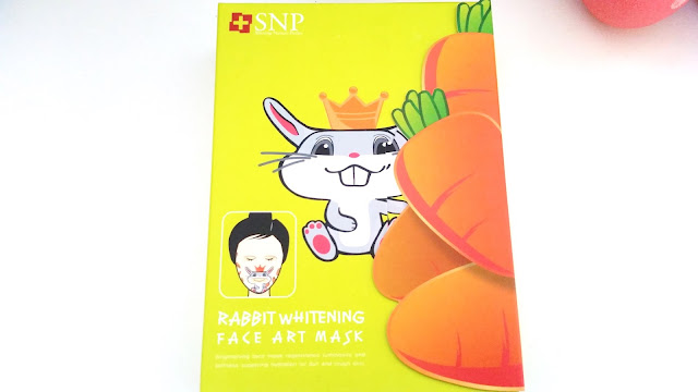 box of SNP Rabbit Whitening face art mask