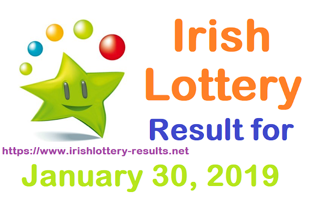 Irish Lottery Results for Wednesday, 30 January 2019
