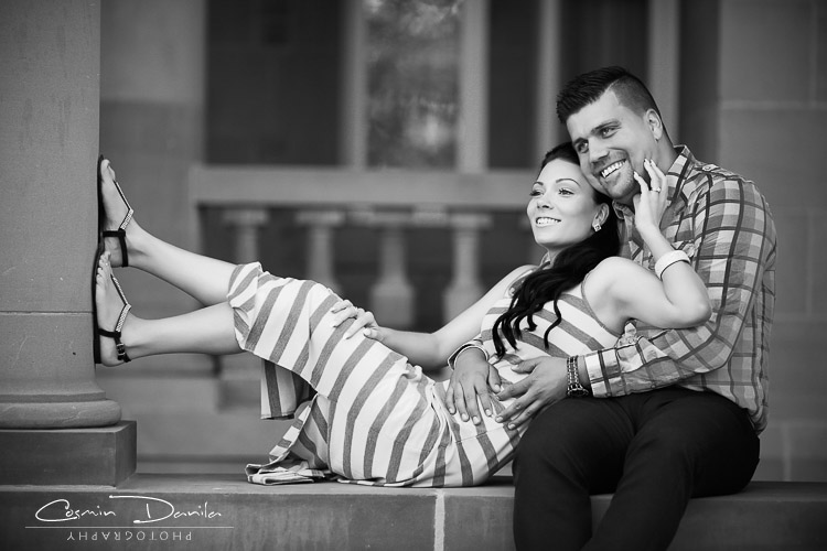 Engagement photography edmonton alberta prewedding pictures royal alberta museum couples portraits black white