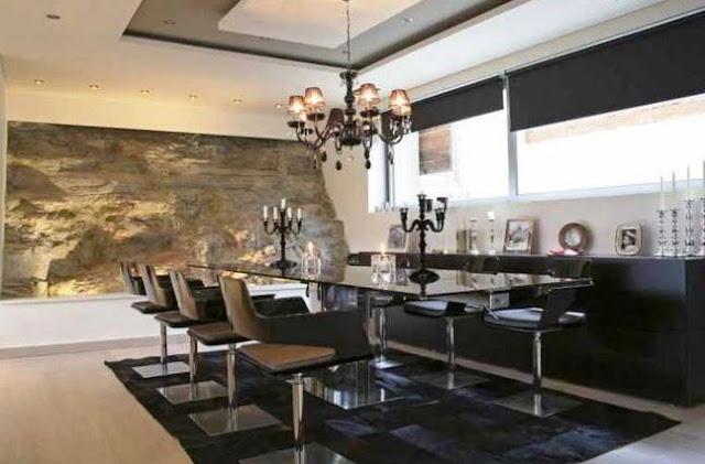 plafon dekoratif ruang makan