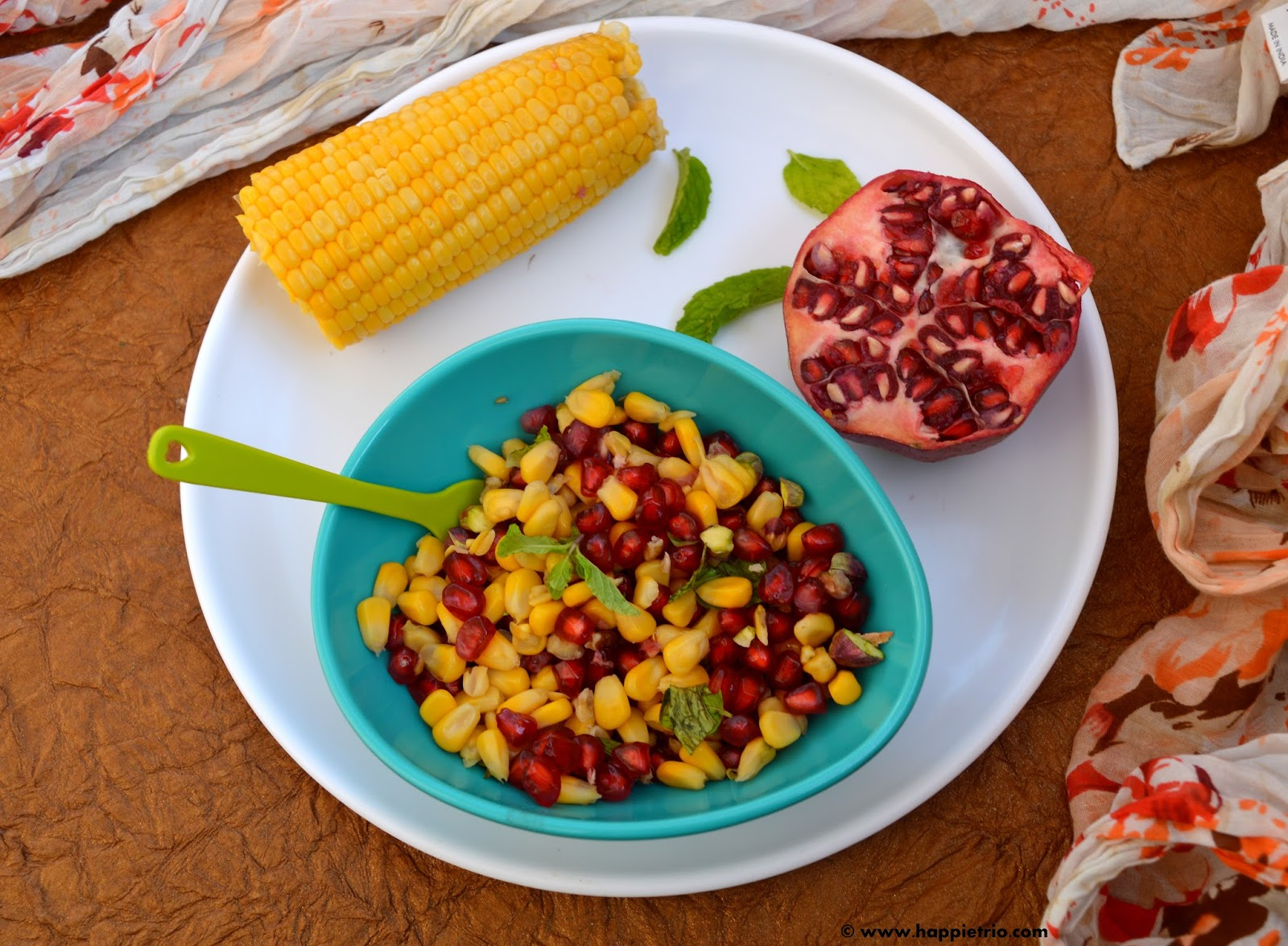 Nutty Pomegranate Sweet Corn Salad