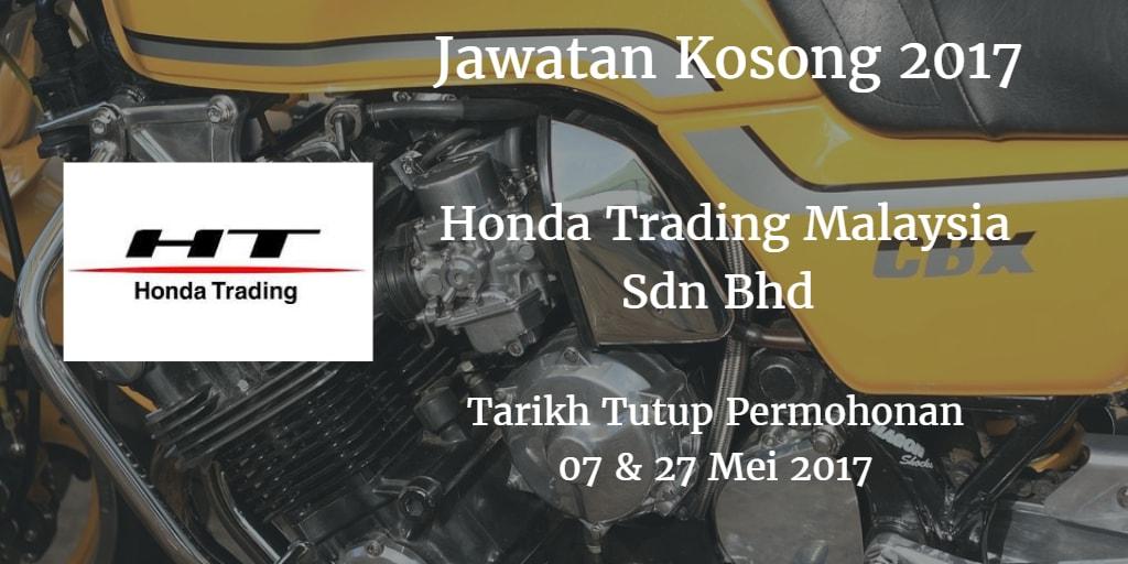 Jawatan Kosong Honda Trading Malaysia Sdn Bhd 07 & 27 Mei 2017