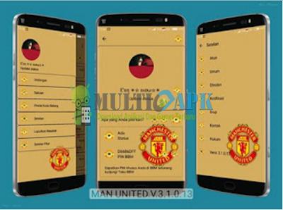 BBM Mod Manchester United (MU) v3.1.0.13 Multi Apk