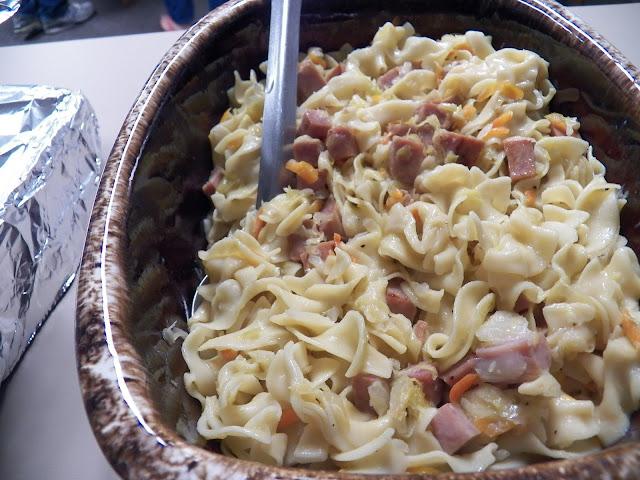 pasta and ham