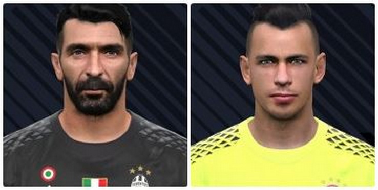 PES 2017 Gianluigi Buffon v2 and Nicola Leali Face by AG