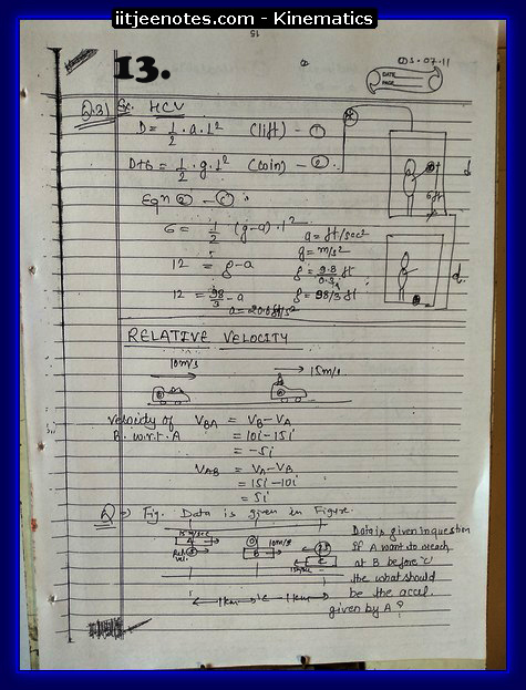 Kinematics IITJEE Notes3