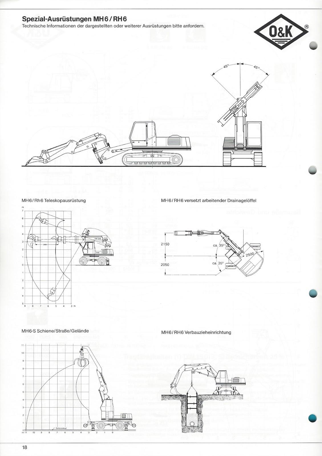 Rs O Amp K Baumaschinen O Amp K Rh 6 Technische Daten