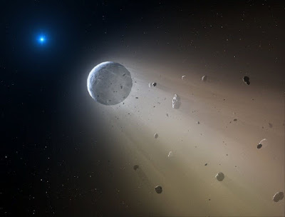 A huge rocky exoplanet the size of Neptune falls into pieces planet-today.com