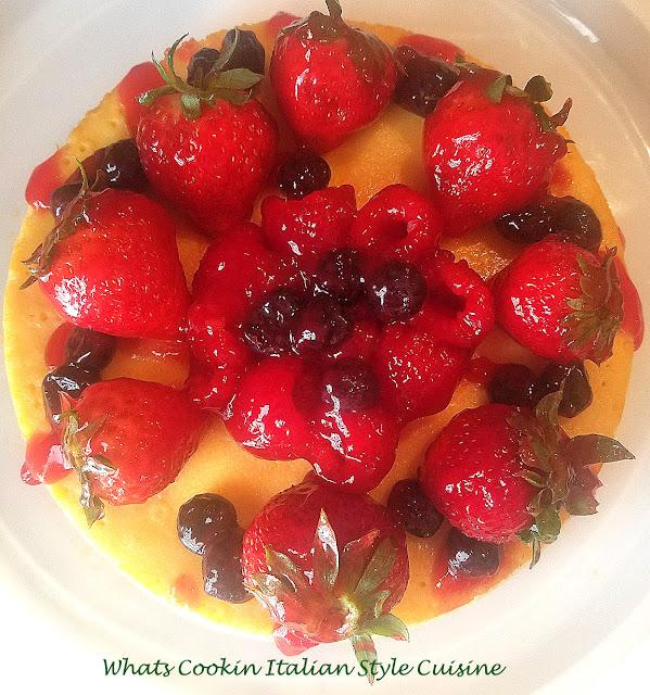 Berry Baked Ricotta Cheesecake