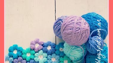 Punto Flor al Crochet o Flores punto puff - DIY
