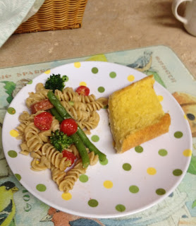 What a Week! with Rotini, Sausage and Veggies