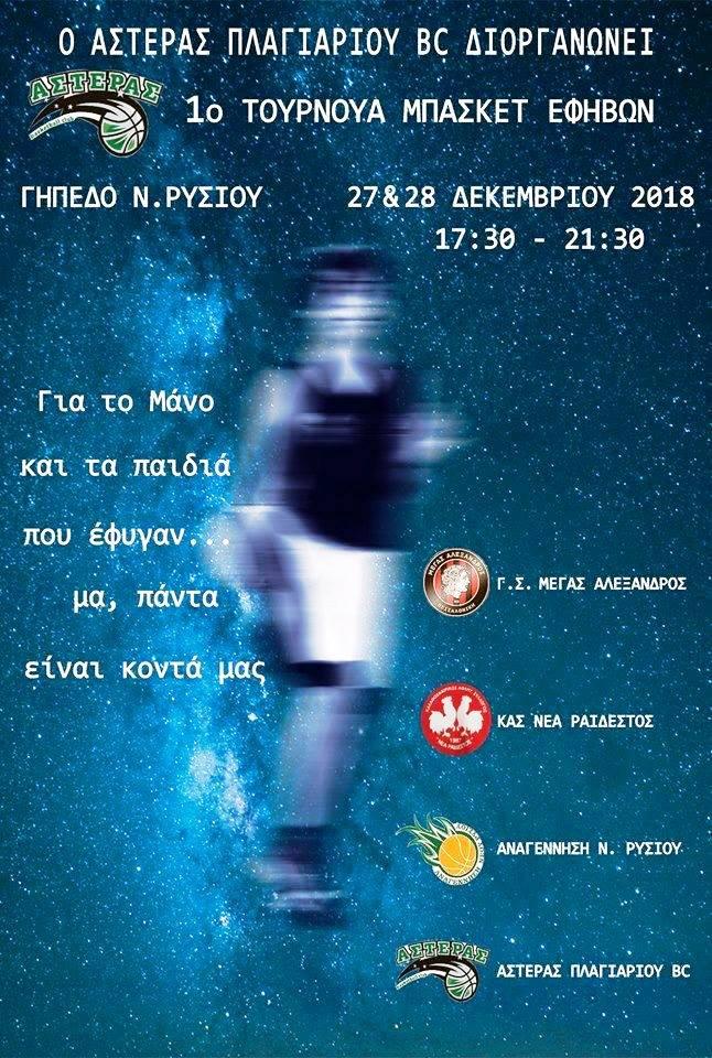 Αρχίζει σήμερα το 1ο τουρνουά εφήβων του Αστέρα Πλαγιαρίου-Τα ρόστερ των ομάδων και το πρόγραμμα των αγώνων