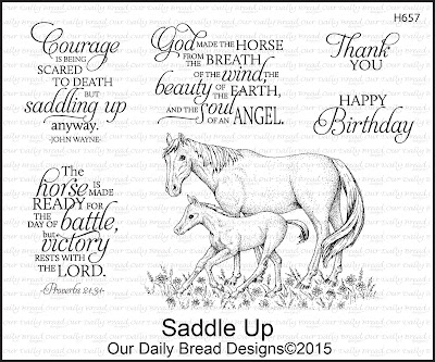 Our Daily Bread Designs stamp set: Saddle Up