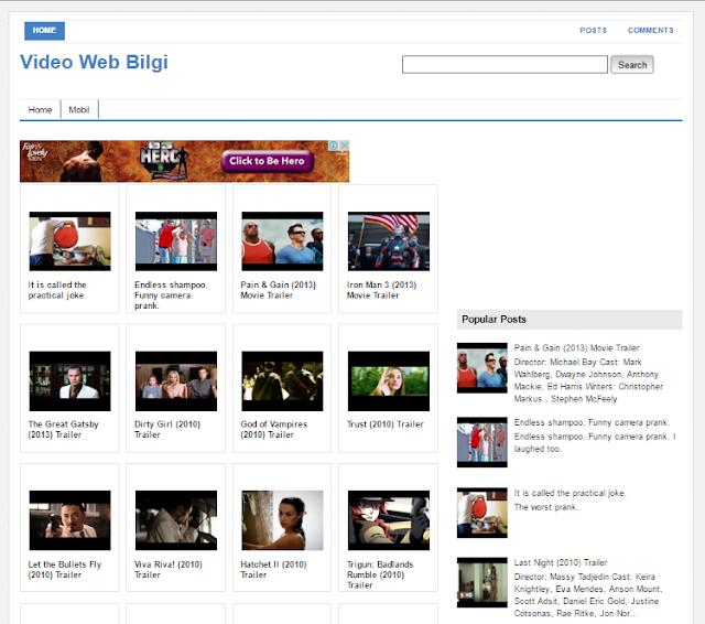 Video Web Bilgi Video Blogger Template