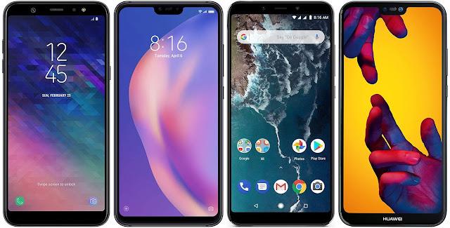 Samsung Galaxy A6+ vs Xiaomi Mi 8 Lite 64G vs Xiaomi Mi A2 64G vs Huawei P20 Lite
