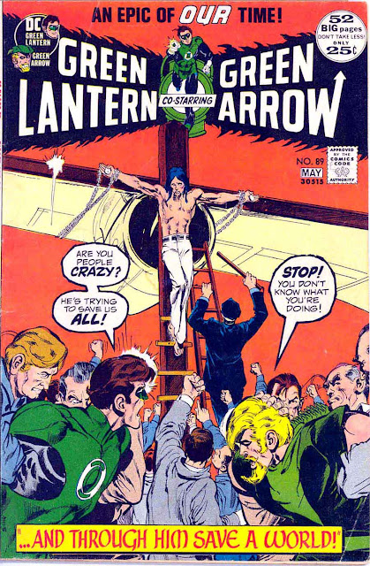 Green Lantern Green Arrow #89 dc comic book cover art by Neal Adams