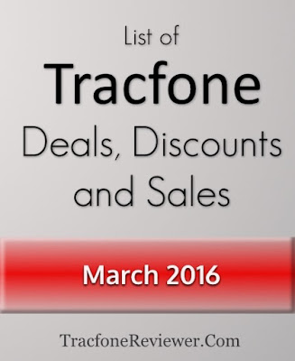 news and information about Tracfone Wireless Tracfone Deals and Discounts List - March 2016