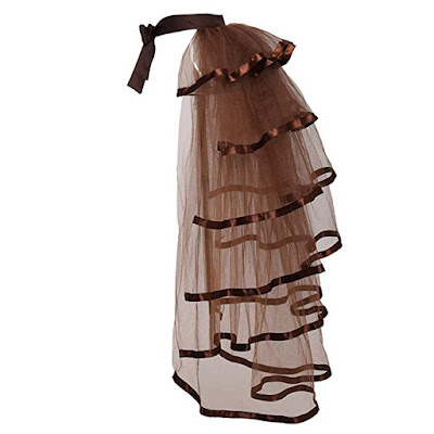 victorian steampunk tie on bustle skirt