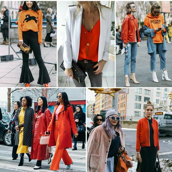 Laranja é a cor do inverno 2017 - mitando no street style