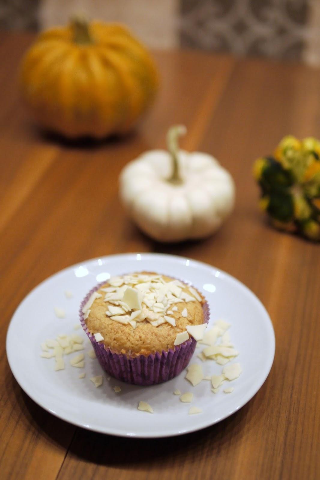 Experimente Aus Meiner Küche Kürbis Muffins Mit Weißer Schokolade