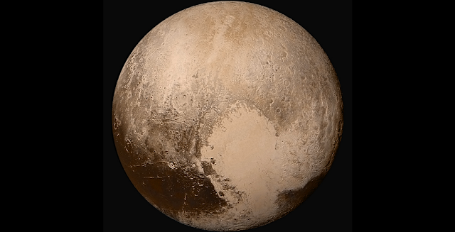 Pluto photographed by the LORRI and Ralph instruments aboard the New Horizons spacecraft. Credit: NASA