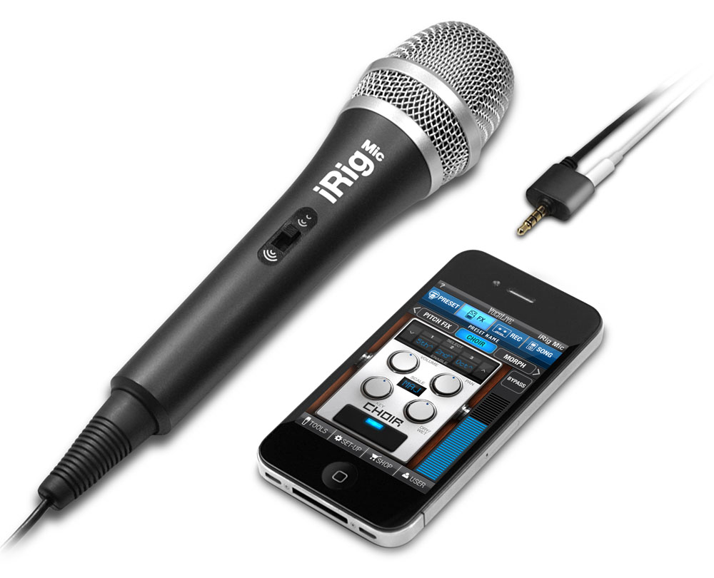 The iRig Microphone and iPhone apps