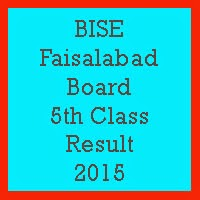 5th Class Result 2017 BISE Faisalabad Board