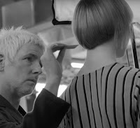 Denman brush in action brushing hair (product made in U.K.)