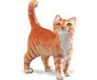 orange tabby cat toy miniature