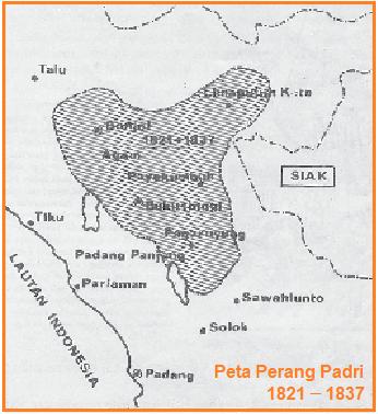 Peta perang padri