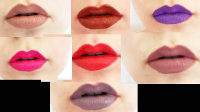 Jeffree Star Velour Liquid Lipstick Lip Swatches