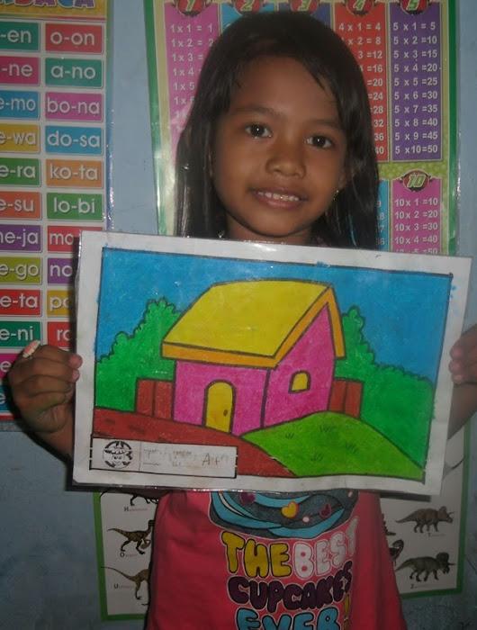 Mewarnai Rumah Dengan Crayon Rahman Gambar
