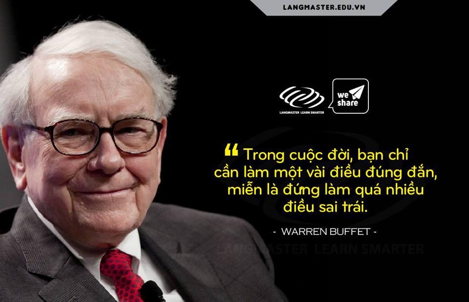 Câu nói hay của Warren Buffet