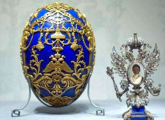 Foto de um Ovo de Fabergé - Porta Retrato