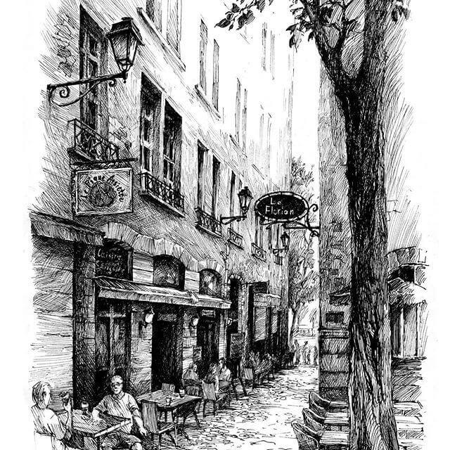 02-Coffee-Shop-sketches-Asmik-Babaian-www-designstack-co