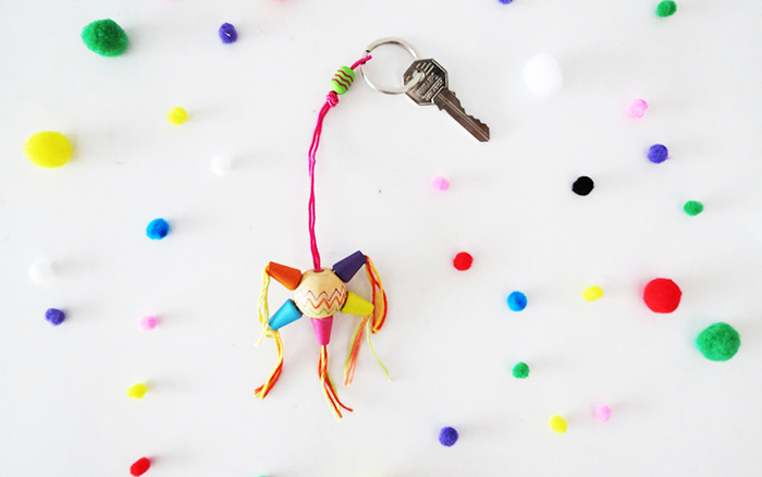 DIY pinata key chain
