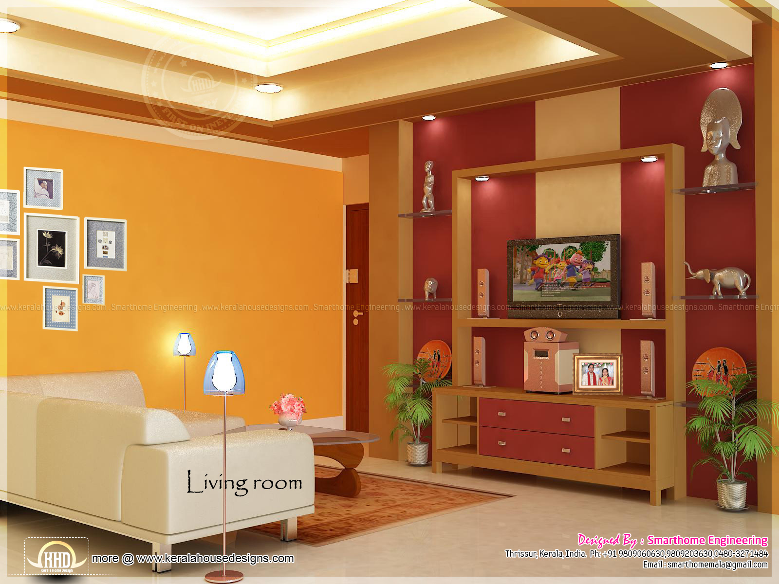 home interior design by smarthome engineering, thrissur kerala home