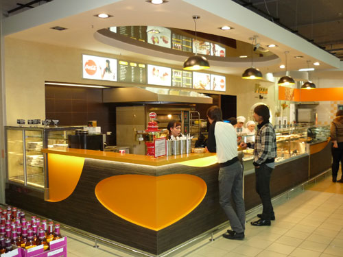 Interior design of fast food restaurant ideas for